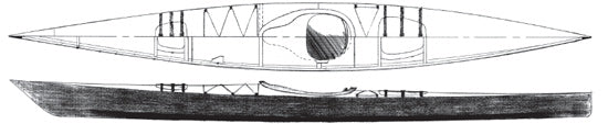 17' Chesapeake Sea Kayak Plans  - STUDY PLANS -