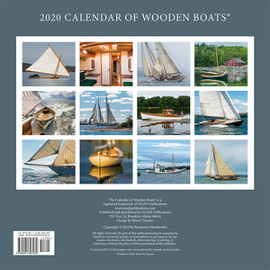 2020 Calendar of Wooden Boats - Back cover