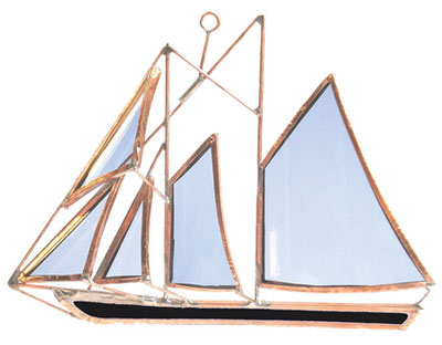 Bluenose Stained Glass Boat