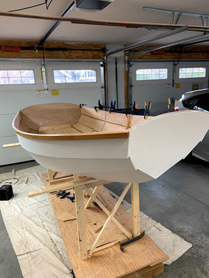 Bob R in BC Canada started and finished this, his first boat, when he was 81 years old.