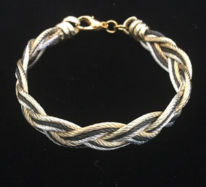 Turks Head - Black/Gold/Silver - Bracelet