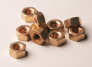1/4 x 20 Bronze Hex Nut -Single