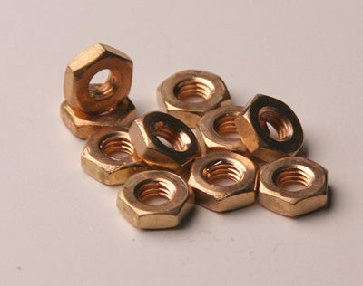 10-32 BR Hex Nut -  Bag 10 - (BB)