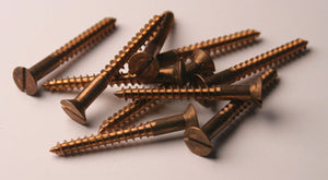 #12 Bronze Flat Head Wood Screws