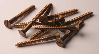 "#12 2"" Bronze Flat Head Wood Screws"