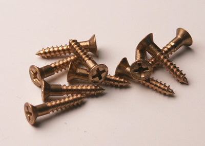 3/4 #6 Bronze Flat Head Wood Screws Bag of 10