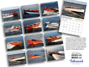 2020 Classic Motorboats Calendar - back cover