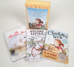 E. B. White Box Set: Charlotte's Web, Stuart Little, The Trumpet of the Swan