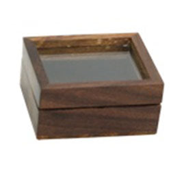 Wooden Box with Glass Top