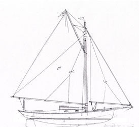 Harris 26' Gaff Sloop - STUDY PLAN-