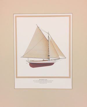 Friendship Sloop: Matted Print