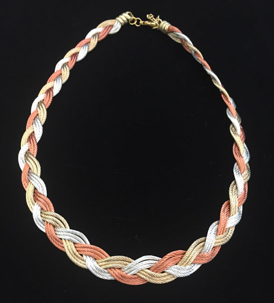Turks Head - Copper/Gold/Silver - Necklace or Bracelet