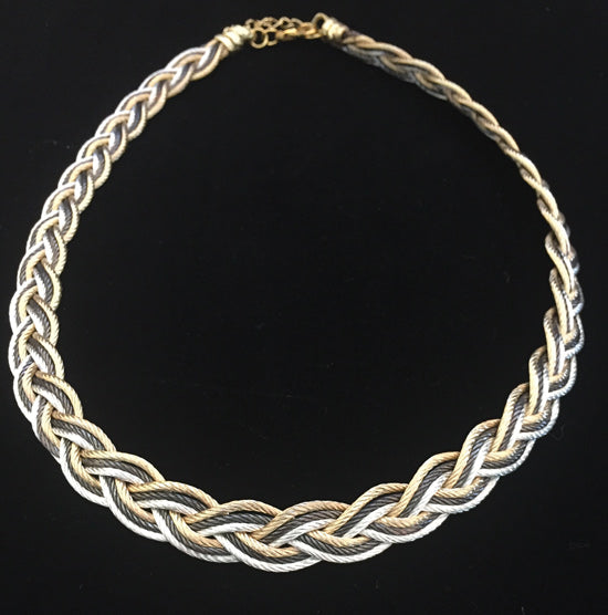 Turks Head - Black/Gold/Silver - Necklace, Bracelet