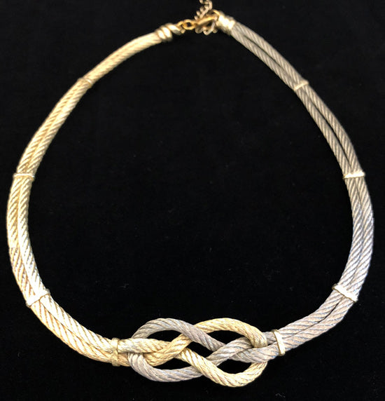 Bend Knot - Platinum/Gold  - Necklace, Bracelet