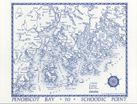 Jane's Postcard - Penobscot Bay to Schoodic Pt.