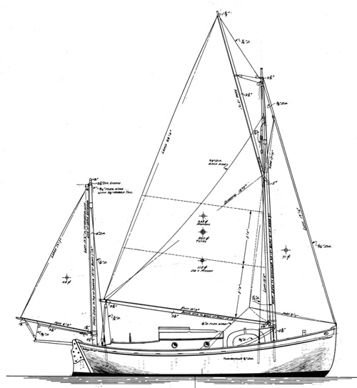 Williams 24' Gaff Yawl - STUDY PLAN -