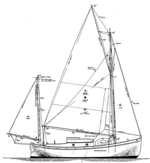 Williams 24' Gaff Yawl