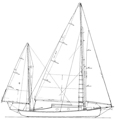 25' Sea Bird Yawl - STUDY PLAN-