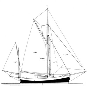 Gillmer 22' yawl Blue Moon