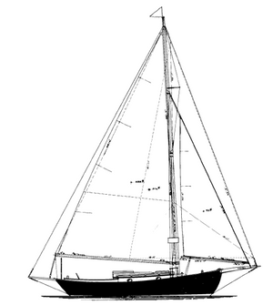 "Warner Sloop 24'6"" TYPHOON"
