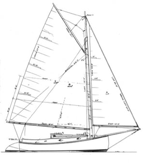 20' Plywood Catboat MADAM TIRZA - STUDY PLAN-