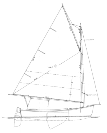 15' Cold Molded Catboat/MARSH CAT - STUDY PLAN-