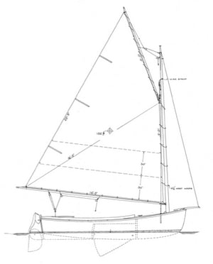 15 Cold Molded Catboat Marsh Cat profile
