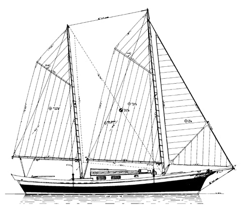 32' MYSTIC Sharpie Ketch - STUDY PLAN-