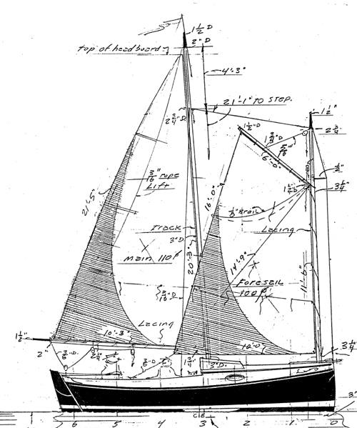 19' Cat Schooner - STUDY PLAN-