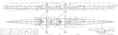 27' 2 Person Rowing Shell, Kookaburra - STUDY PLAN-