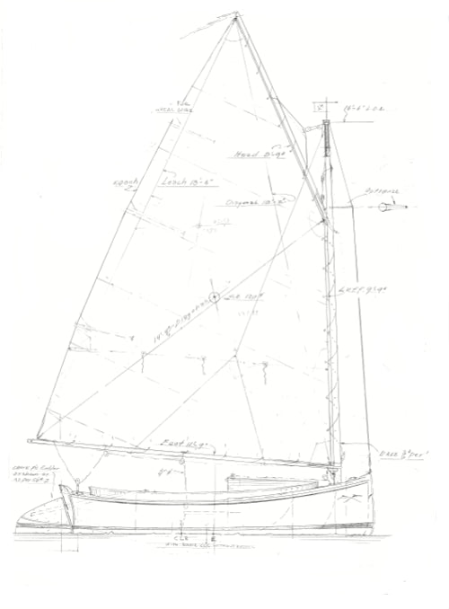"12' 6"" Catboat Tom Cat"