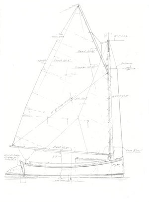 "12' 6"" Catboat Tom Cat  - STUDY PLAN -"