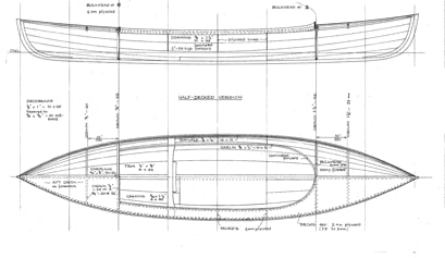 "10' 8"" Stickleback Canoe - STUDY PLAN -"