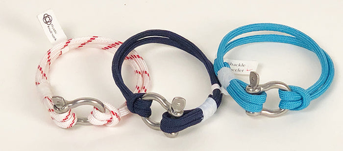 Shackle Bracelets choose from three colors, two sizes