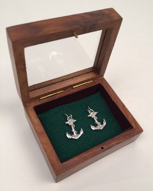 Silver Anchor Earrings*