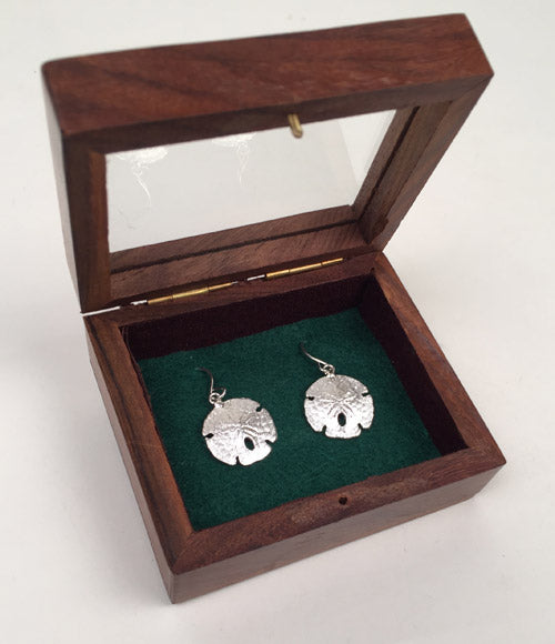Silver Sand Dollar Earrings*
