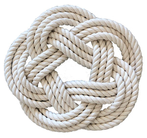 Large Sailor's Knot Cotton Line Trivet