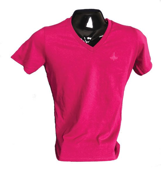 womens-v-neck-t-shirt-raspberry