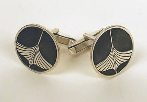 Sterling Silver WoodenBoat cufflinks