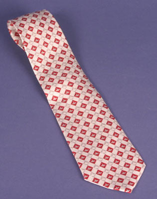Silk WoodenBoat Necktie: Red-Gray