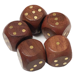 Teak Dice - Set of Five