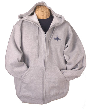 Zippered Hooded Sweatshirt in 2 colors