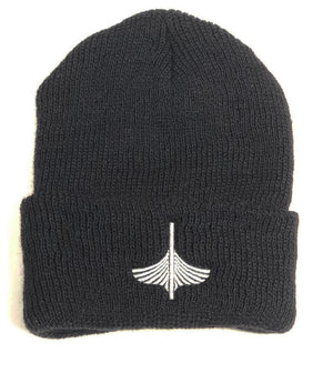 Wool Watch Cap - Ivory Logo