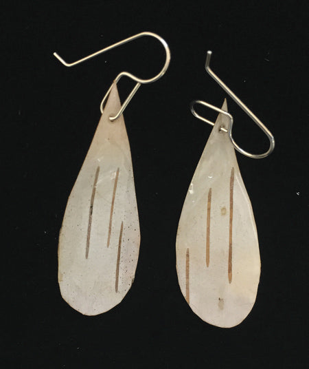Birch Bark Earrings - Teardrop Shape *