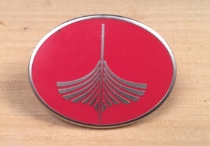 Red WoodenBoat Oval Pin