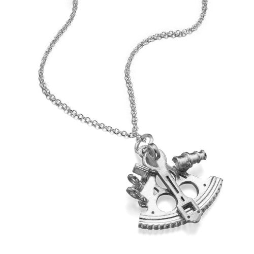 Sextant Silver Necklace