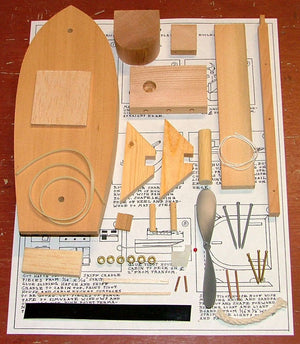Toad Tugboat Model Kit parts