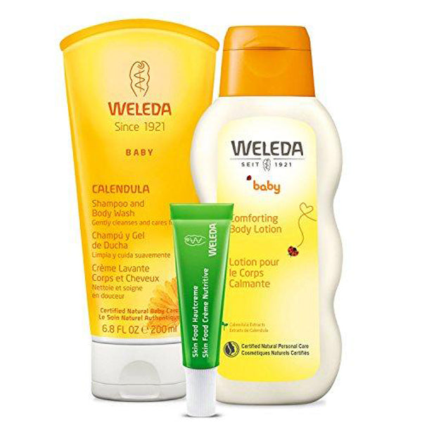 3-Piece Set: Calendula Shampoo, Body Lotion and Skin Food