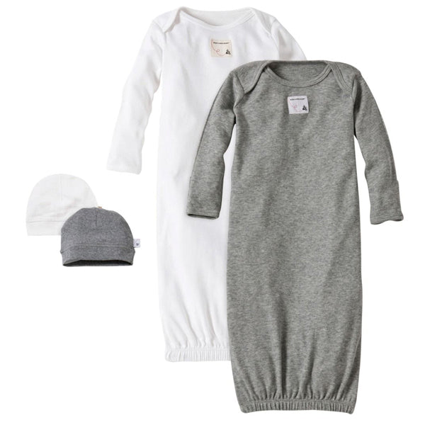 Essentials Organic Baby Gown Set Of 2