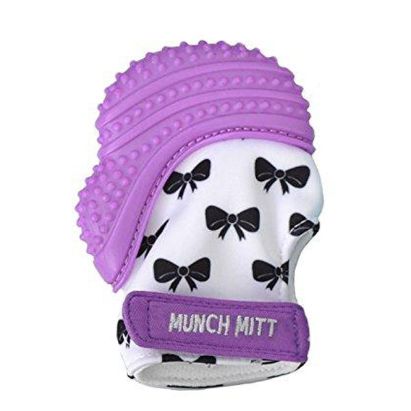 The ORIGINAL Mom-Invented Silicone Teether Mitten with Travel Bag